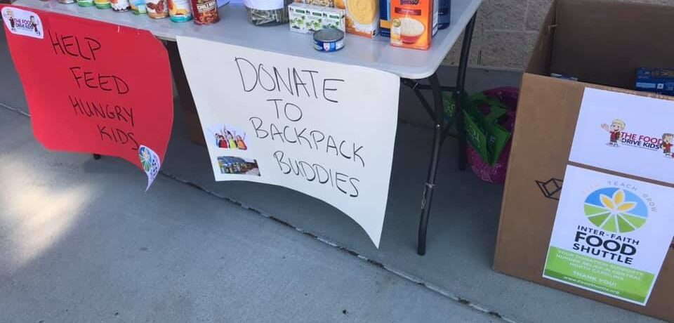 Food Drive For Backpack Buddies – 2019